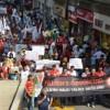 Gebze'de işçiler Filistin için yürüdü