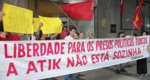 Brezilya'da Alman Elçiliği önünde ATİK'e destek eylemi yapıldı